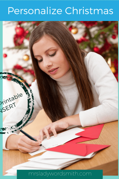 Personalize Christmas: Write a Letter to Someone Needing a Little Cheer