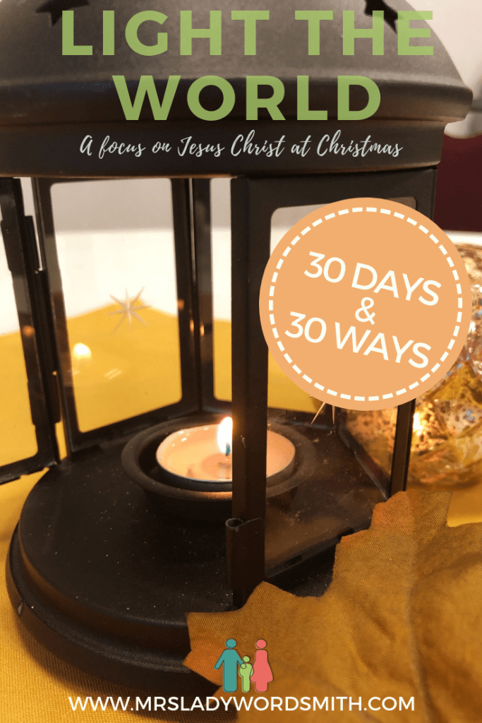 How will you focus on Christ this Christmas season? Join me and others as we Light the World with service to others. #lighttheworld #christmas #jesus #christ #christian #lds #mormon #churchofjesuschristoflatterdaysaints #service