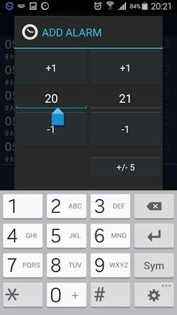 Sleepbot add hour main view-keyboard