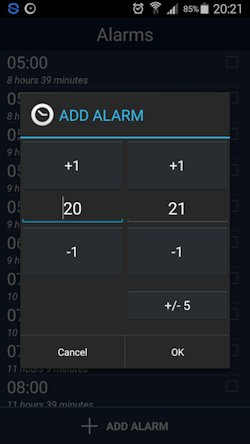 Basic view sleepbot add hour