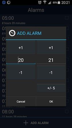 Basic view sleepbot add hour