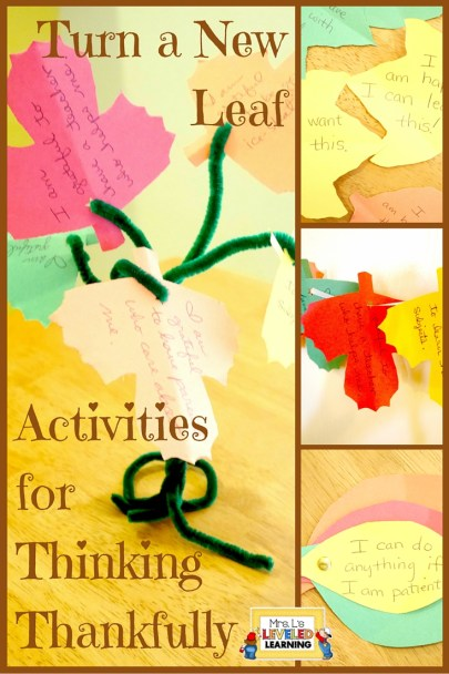 Turn a New Leaf - Activities for Thinking Thankfully