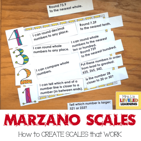 How to Write Specific Marzano Scales
