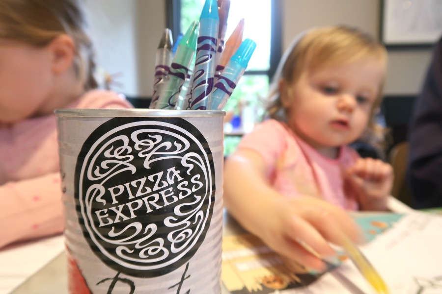 A Family Meal at Pizza Express