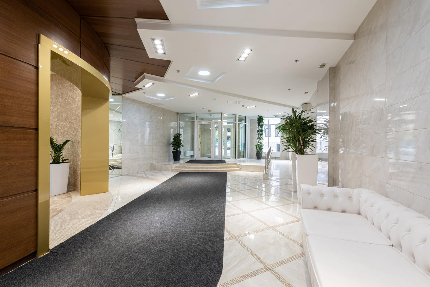 brand new business office lobby
