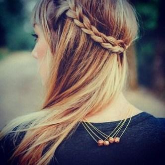 back braid tiara