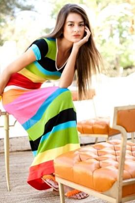 Colorful Striped Maxi