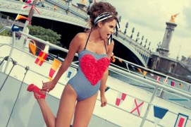 on cruise with heart suit