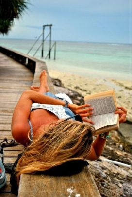 reading by the shore