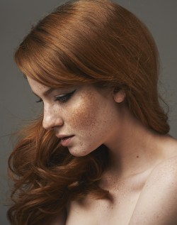 redhair with freckles