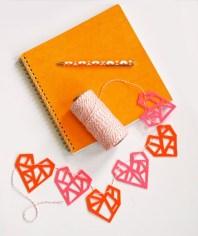 geometric-felt-heart-garland