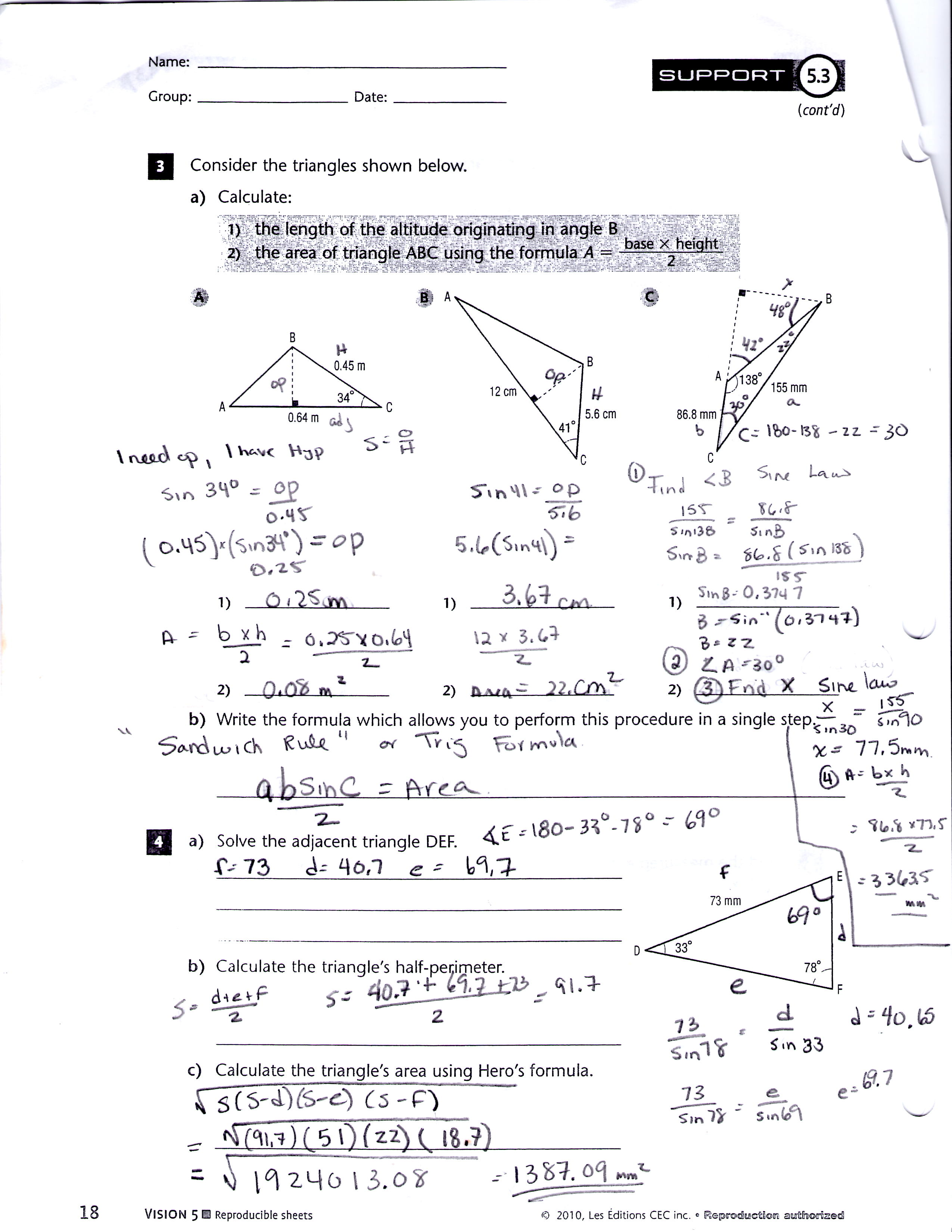 5 3 Solving Trig Equations Practice Worksheet 1