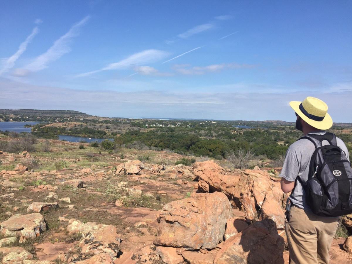 A view from the hiking trails of Inks Lake State Park