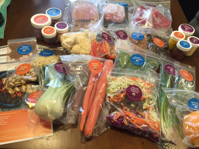 A home meal delivery kit from Green Chef
