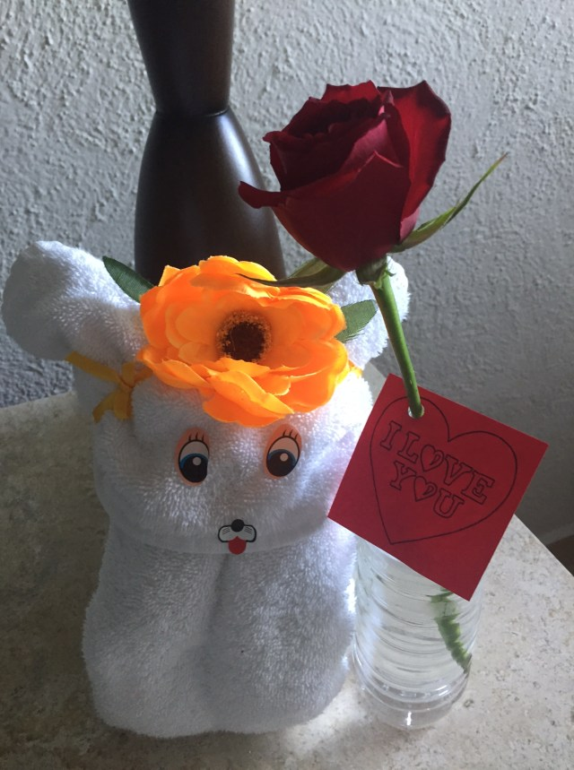 A gift from the housekeeping staff at our all inclusive resort in Cancun