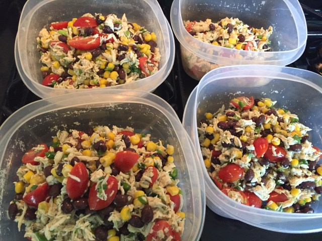 Southwest Chicken Salad in Plastic Storage containers