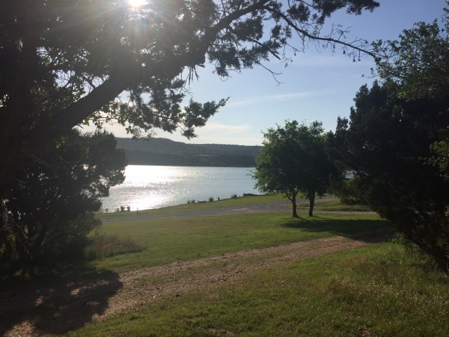 The view at Muleshoe Bend Campground