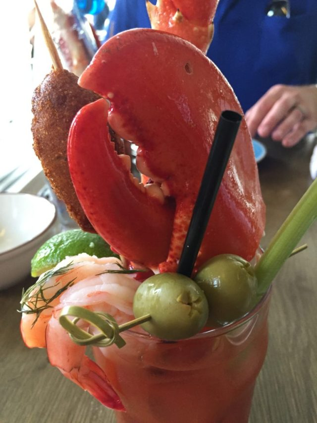 """The Captain"" Blood Mary is only available at brunch from the Darling Oyster Bar in Charleston, South Carolina."
