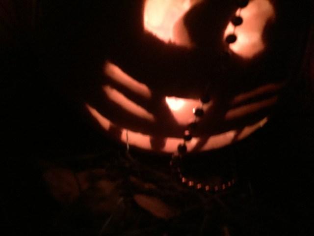 An anime cat pumpkin