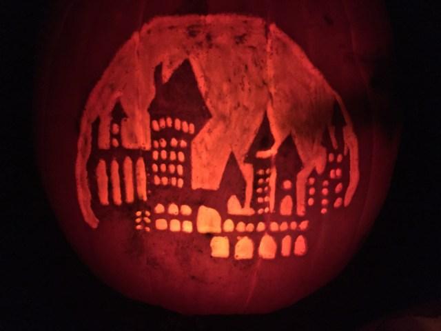 A hand-drawn Hogwarts castle