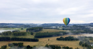 Contemplating the day while hot air ballooning