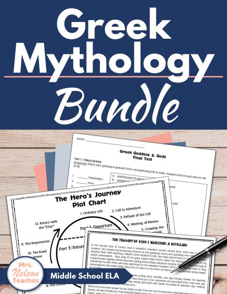 Greek Mythology Unit Plan 20% off Discount