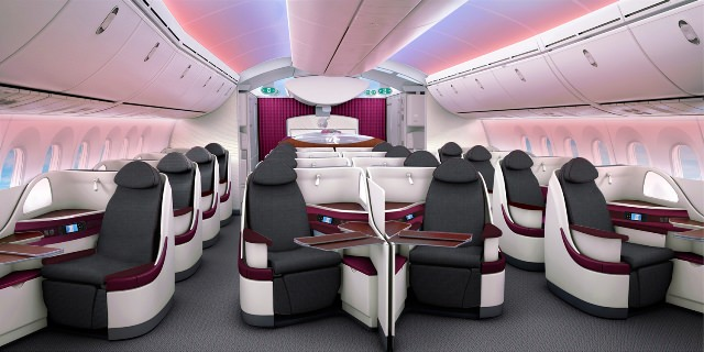 Image result for qatar airways 787 business class