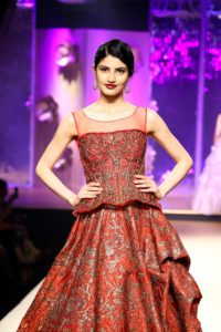 Models Showcasing the Collection at Indian Wedding Show