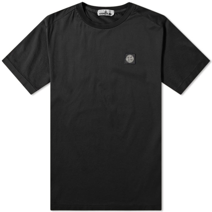 Stone Island Patch Logo T-Shirt in Black