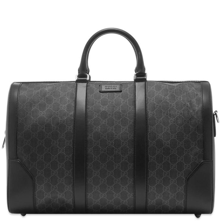 Gucci GG Logo Supreme Duffel Bag in Black