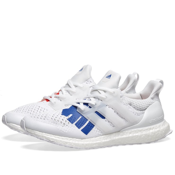 Adidas Consortium x Undefeated Ultraboost White, Red & Blue