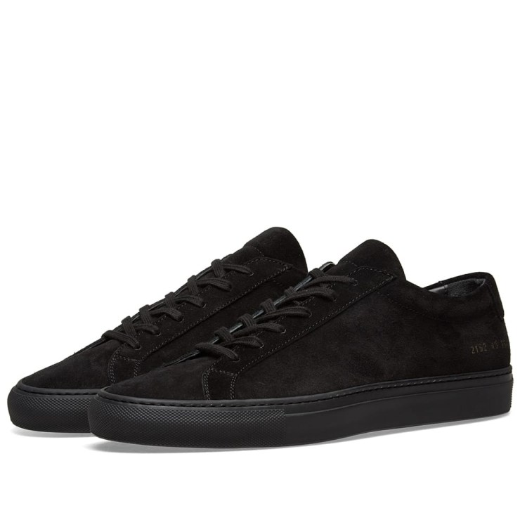 Common Projects Achilles Low Suede Sneakers in Black
