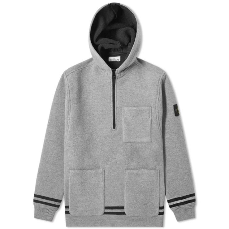 Stone Island Panno Jacquard Anorak Hooded Jacket 'Dust'