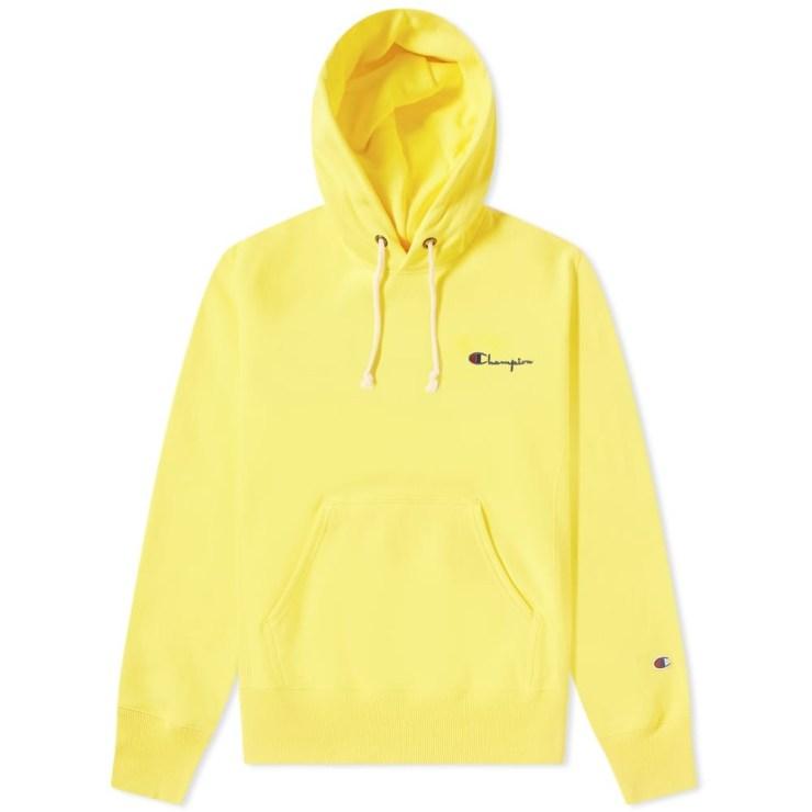 Champion Reverse Weave Small Script Hoody 'Yellow'
