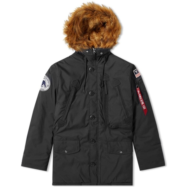 Alpha Industries Polar Bear Parka Jacket 'Black'