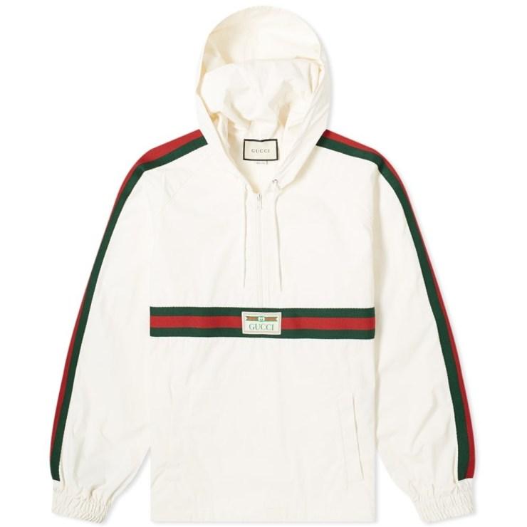 Gucci CRG Stripe & Vintage Smock Windbreaker 'White'