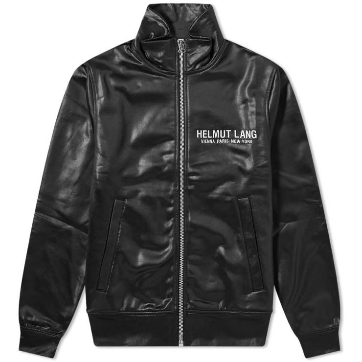 Helmut Lang Sash Polished Track Jacket 'Black'