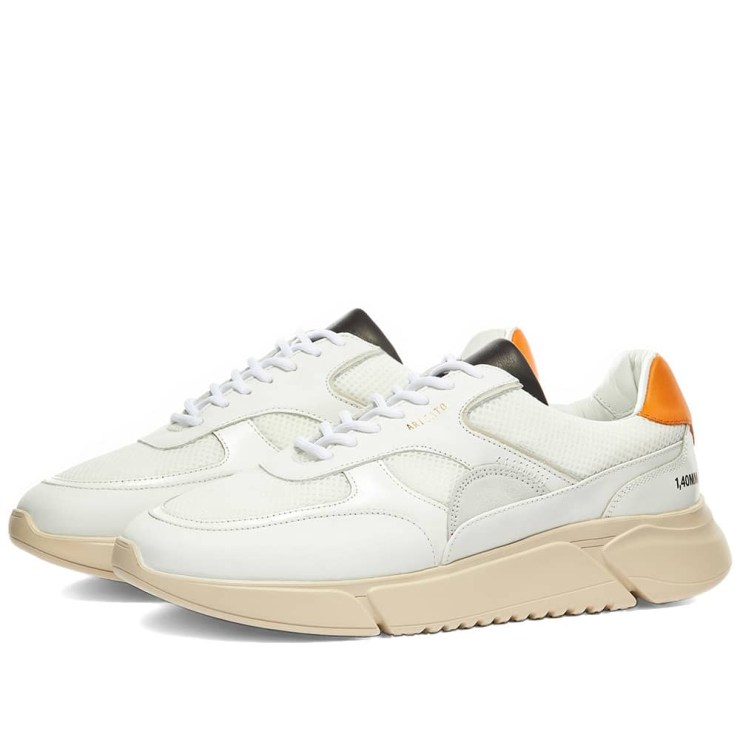 Axel Arigato Genesis Triple Sneakers 'Orange, Black & Neon Green'