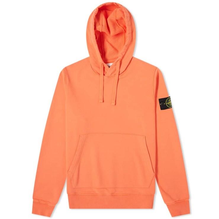 Stone Island Garment Dyed Hoody 'Orange'