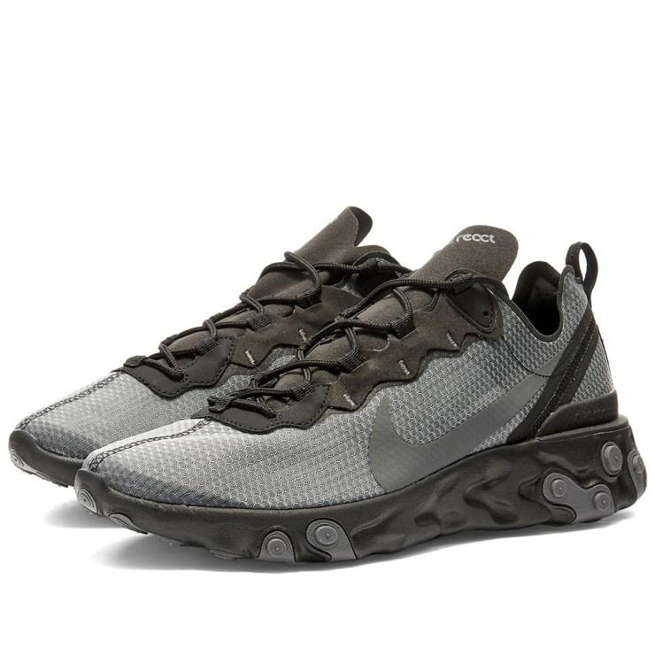 Nike React Element 55 SE 'Black, Anthracite & Grey'