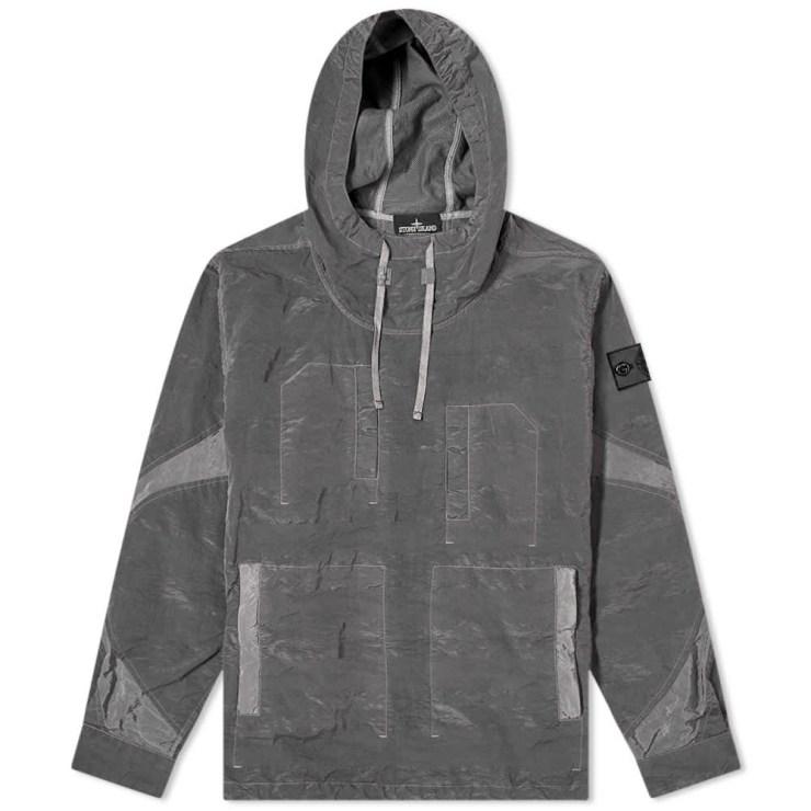 Stone Island Shadow Project Striped Nylon Metal Smock Jacket 'Grey'