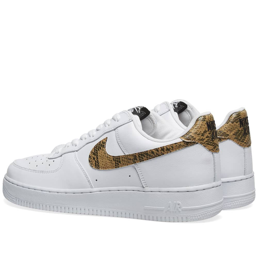 Nike Air Force 1 Low 'White & Ivory Snake'