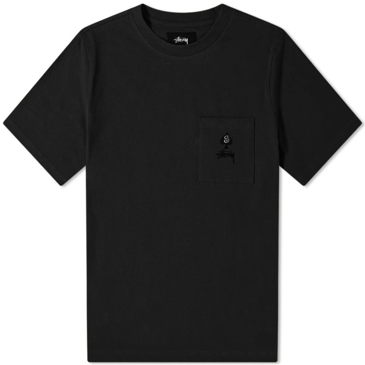 Stussy Spade Chest Pocket T-Shirt 'Black'