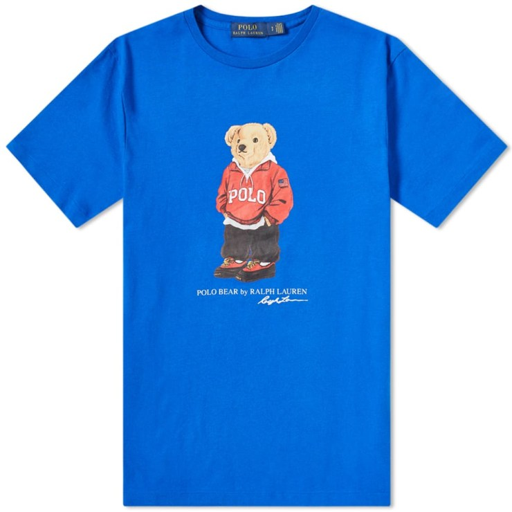Polo Ralph Lauren Streetwear Bear T-Shirt 'Blue'