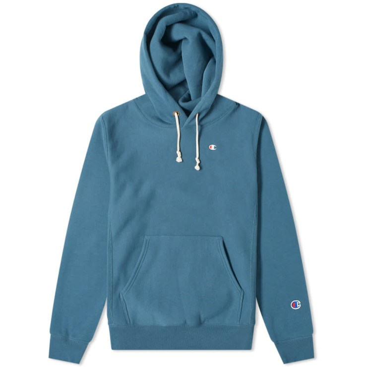 Champion Reverse Weave Classic Hoody 'Teal Blue'
