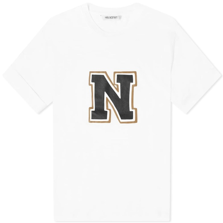 Neil Barrett Printed N Logo T-Shirt 'White'
