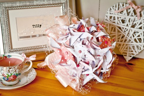 pinwheel bouquet - ribbons and tulle - mrspandpblog