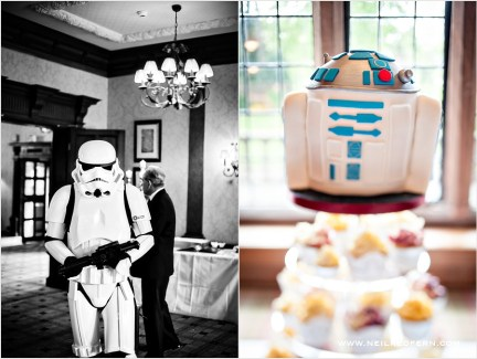 star wars wedding, R2D2 cake, star wars stormtroopers
