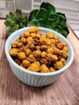 Maple-Curry Air-Fried Chickpeas