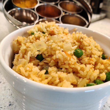 Oil-Free SPicy Indian Tomato Rice